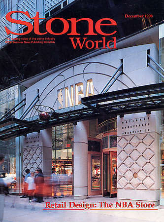 NBA Store  facade - on the cover of Stone World