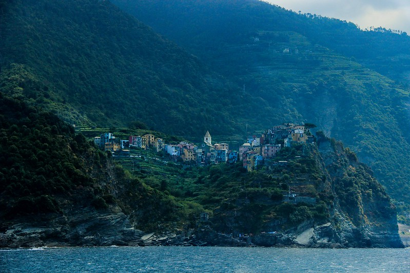 Corniglia, the only town in Cinque Terre that does not sit on the water.