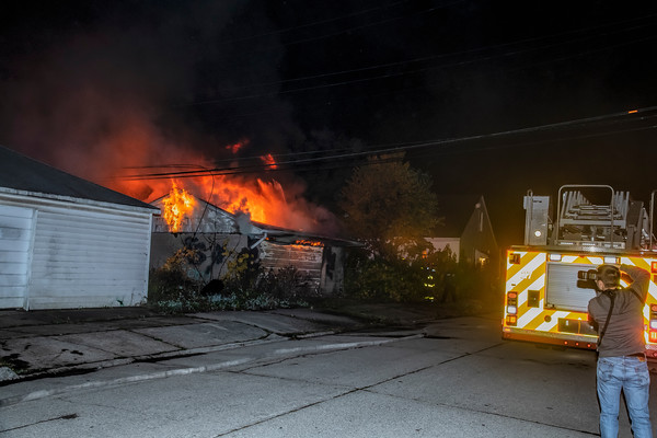 Montrose and Radcliffe garage fire
