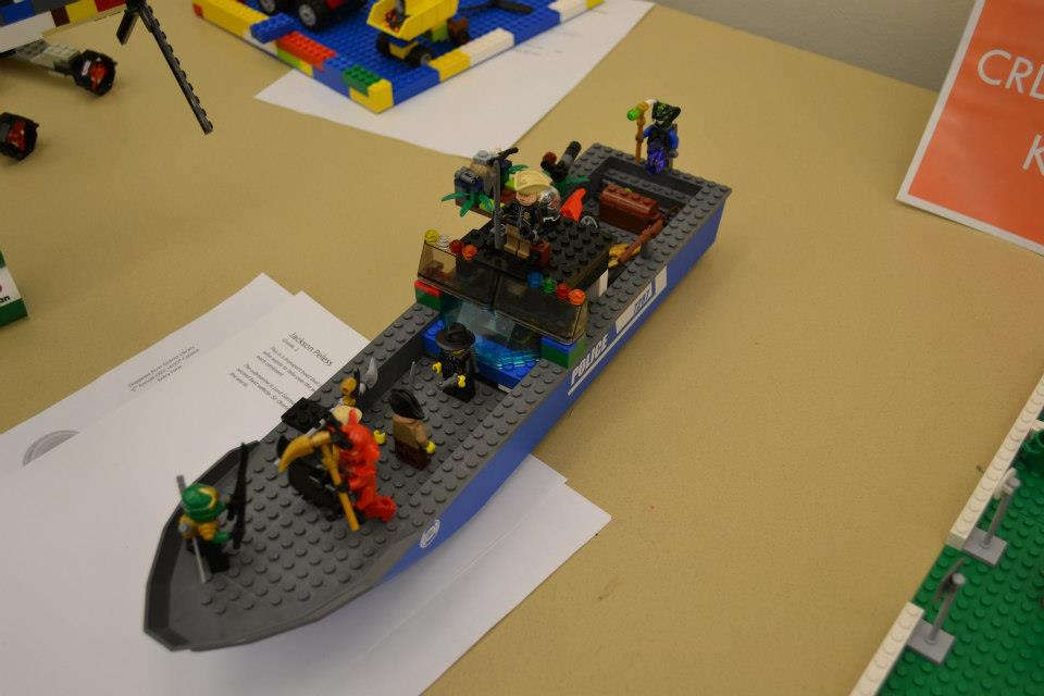 Description of . CRDL 2012 Lego contest (Photos courtesy of Chippewa River District Library)