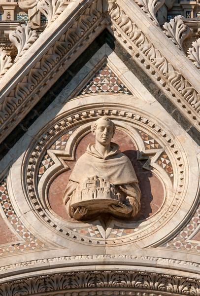 Facade of Duomo di Siena, Italy
