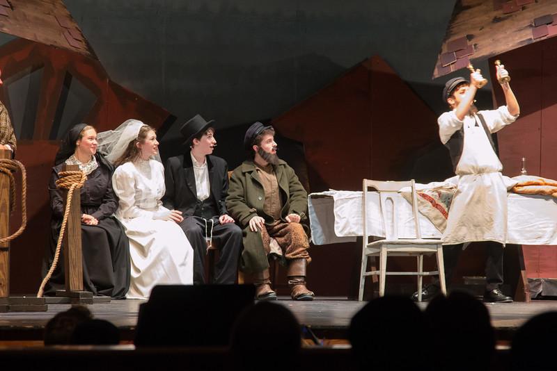 "Golde, Tzeitel, Motel, Tevye, and Mordcha -- ""The Wedding"" -- Fiddler on the Roof, Montgomery Blair High School, April 24, 2015"