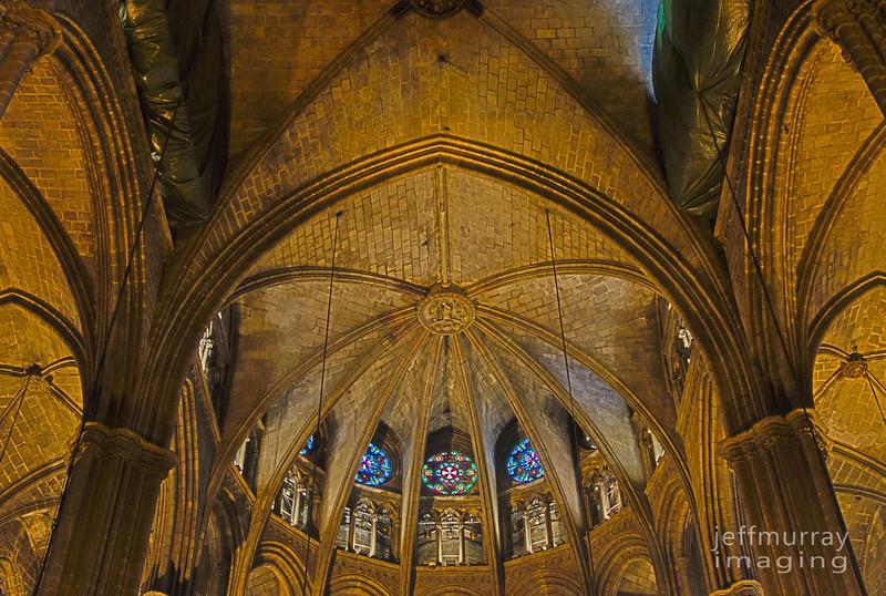 The main dome of the La Seu Cathedral, Barcelona.