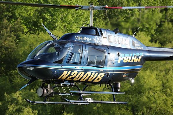 "Virginia Beach Police Department 1989 Bell 206-B3 ""Jet Ranger"", Virginia Beach, 09May18"