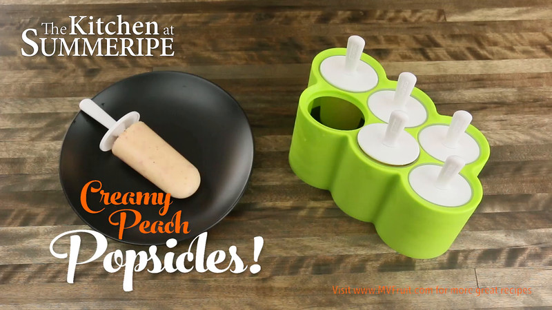 Summeripe Creamy Peach Popsicles