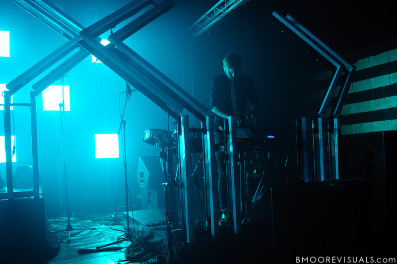 Ooah of The Glitch Mob performs in support of Drink The Sea on July 13, 2011 at Czar in Tampa, Florida