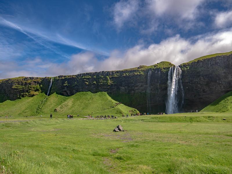 Three Waterfalls on One Iceland Mountain    Photography by Wayne Heim