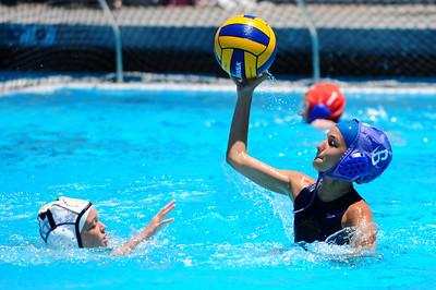 Newport Summer Tournament - 12U Girls - Capistrano Valley vs Santa Barbara Water Polo Club 7/11/09. Final score 0 to 5 forfeit. (Scrimmage score 9-5).  Capo vs SBWPC. Photos by Chris Preston.