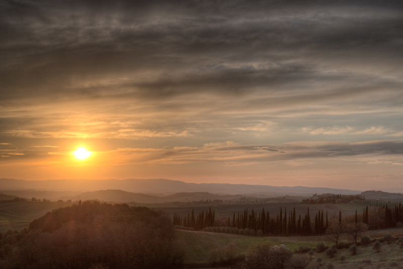 Sunset - Castellina in Chianti, Siena, Italy - April 5, 2015