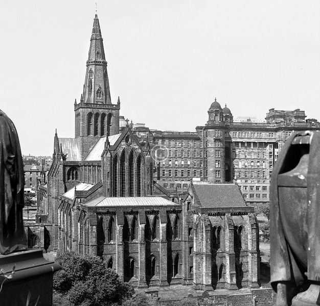 Cathedral from Necropolis.   July 1973