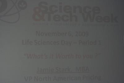 Science Tech Week last day Nov 6, 2009
