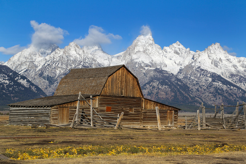 Moulton Barn on Mormon Row Road near Grand Teton National Park