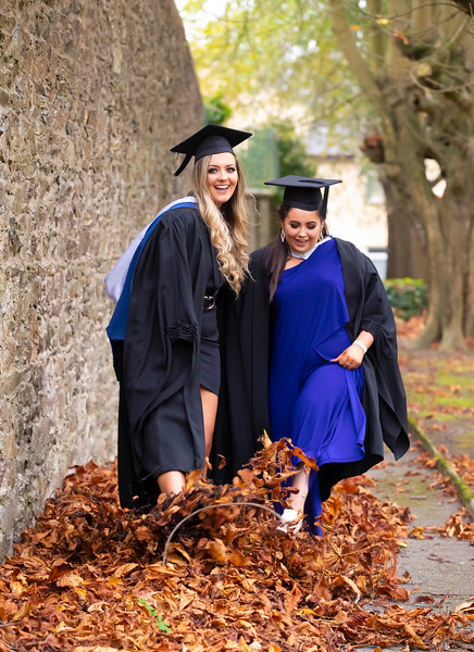 30/10/2019. Waterford Institute of Technology (WIT) Conferring Ceremonies. 30/10/2019. Waterford Institute of Technology (WIT) Conferring Ceremonies. Pictured are Shannon O'Meara Stradbally, Aisling Tolton from Newbawn, Co. Wexford who graduated Bachelor of Business. Picture: Patrick Browne