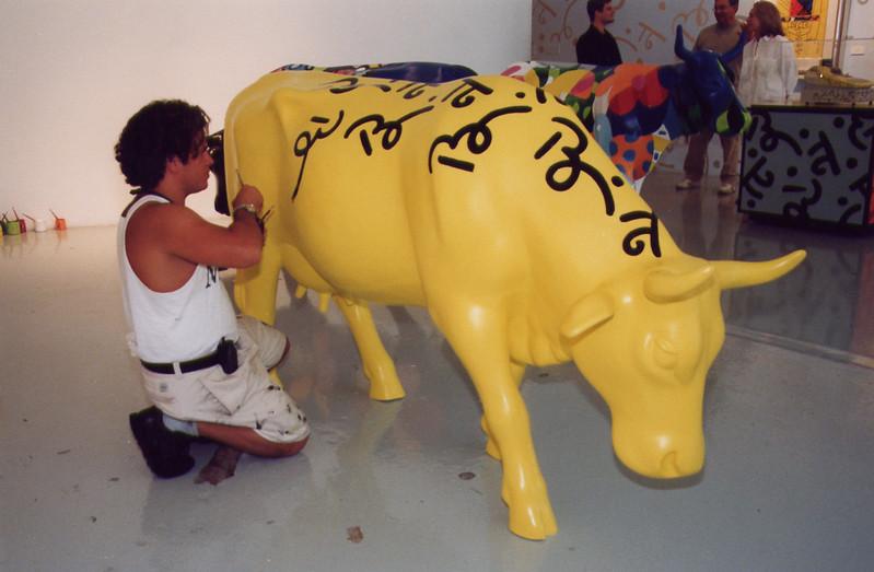 Sunshine CowRomero BrittoCowParade NYC 2000