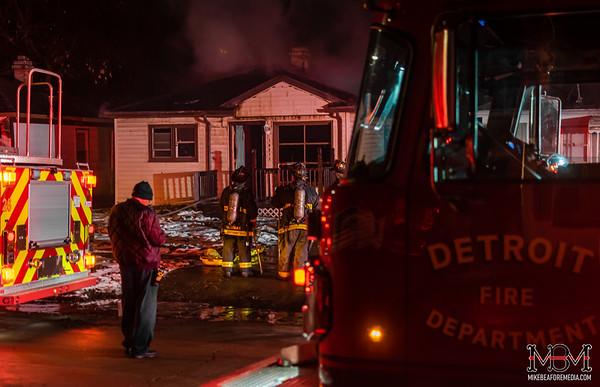 Detroit MI, House Fire 3-2-2020