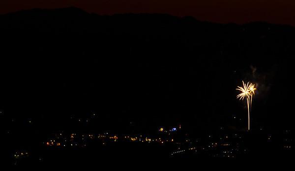 Fireworks Calistoga and St Helena Ca 2013