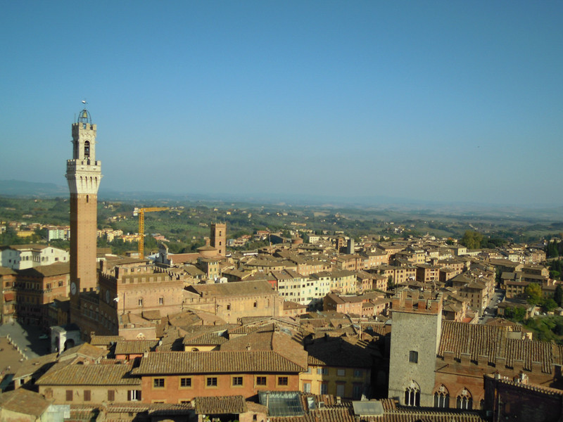 Hiked up to top of Duomo bell tower