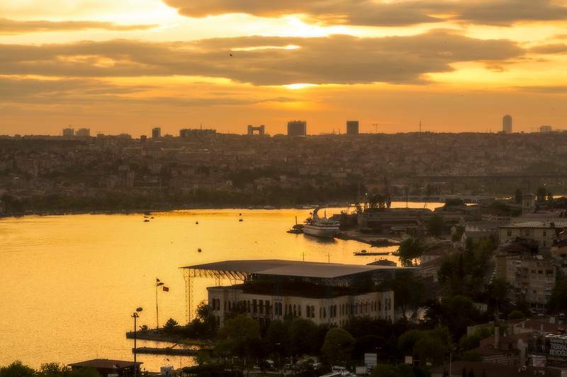 Airbnb apartment overlooked the Golden Horn.