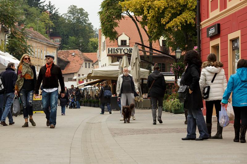 Street scene in Tkalciceva Ulica. Zagreb, Croatia
