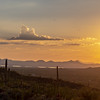Sunset over Tucson Mountains