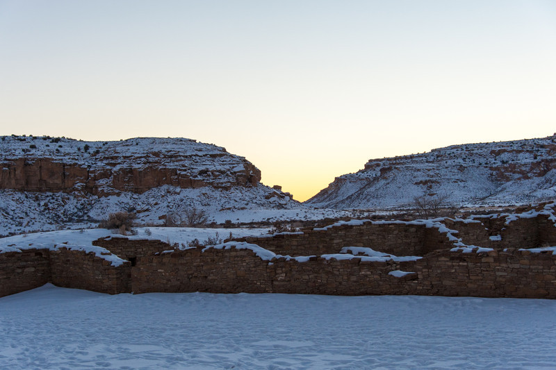 Chaco Canyon Sunset