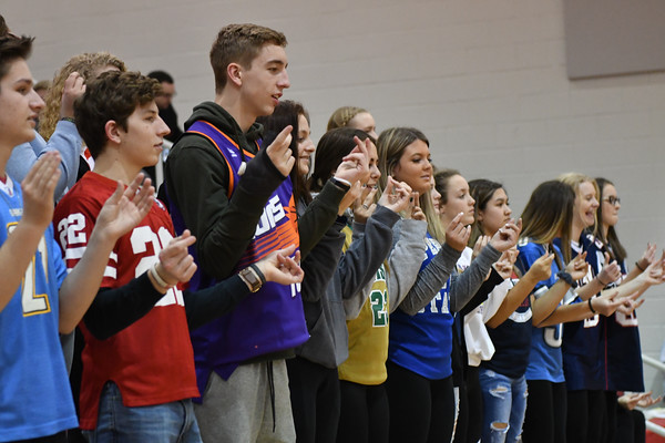 Crowd at Varsity Basketball vs Lincoln Christian