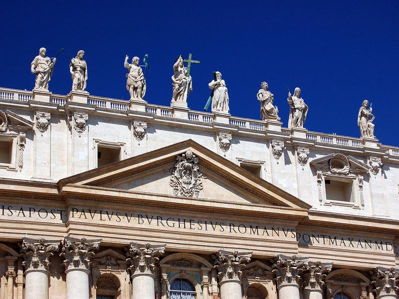 Saints at St. Peter's Basilica