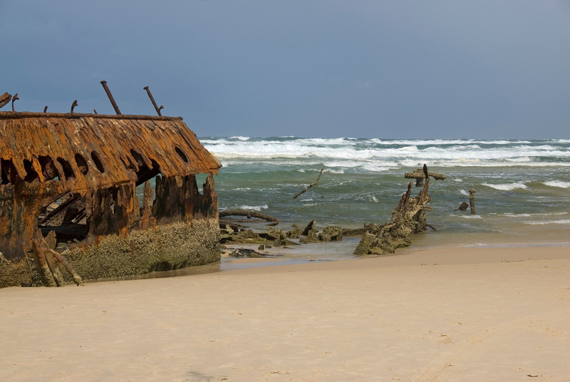 Bow of Shipwreck, Fraser Island - Queensland, Australia
