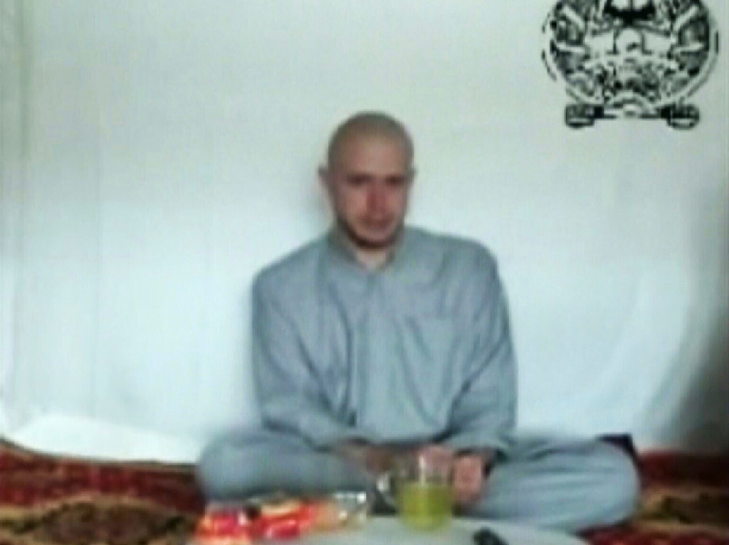 . This file video frame grab taken from a Taliban propaganda video released Saturday, July 18, 2009  shows Pfc. Bowe R. Bergdahl, 23, of Ketchum, Idaho, who went missing from his base in eastern Afghanistan June 30. Washington has held indirect talks with the Taliban over the possible transfer of five senior Taliban prisoners from Guantanamo Bay in exchange for a U.S. soldier captured in Afghanistan nearly five years ago, a senior Taliban official told The Associated Press. A U.S. official said the possibility of an exchange is under discussion but would not comment on whether any talks have yet occurred. (AP Photo/Militant Video, File)