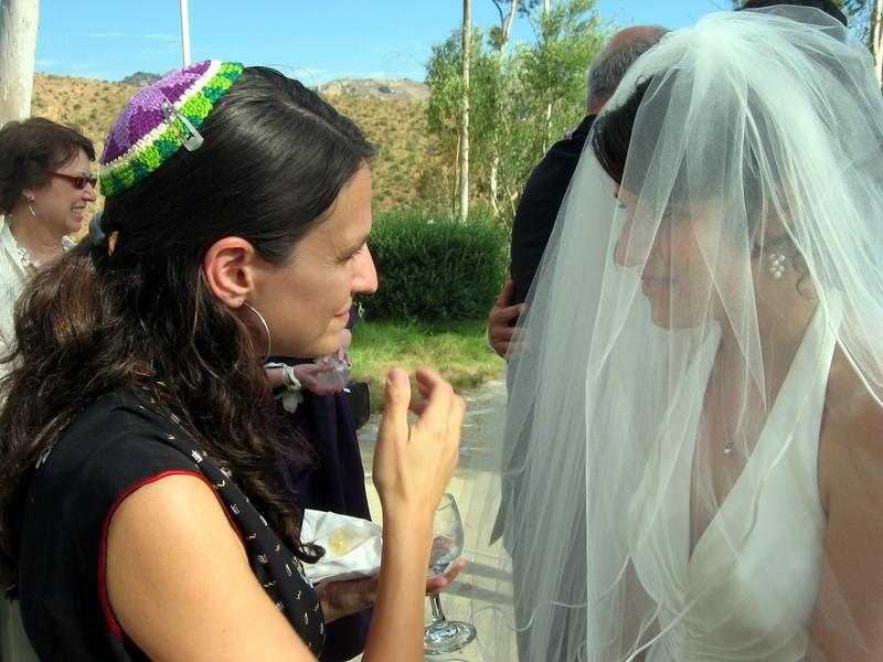 Rabbi Brous congratulates Abby