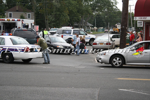 Lindenhurst F.D. SPI Vehicle-Pedestrian Accident - Broadway & West Hoffman Ave 9-15-11