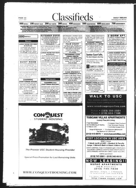 Daily Trojan, Vol. 151, No. 65, April 27, 2004