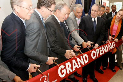 New York, NY - September 21:  The ribbon cutting ceremony at the grand opening of the upper west side Century 21, New York, USA.