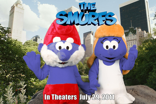05.01.11 The Smurfs at the Los Angeles Book Festival