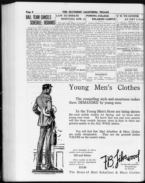 The Southern California Trojan, Vol. 8, No. 92, April 10, 1917