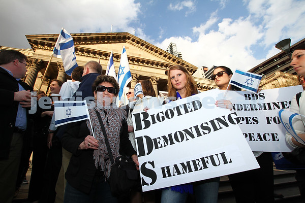 Anti BDS rally at State Library