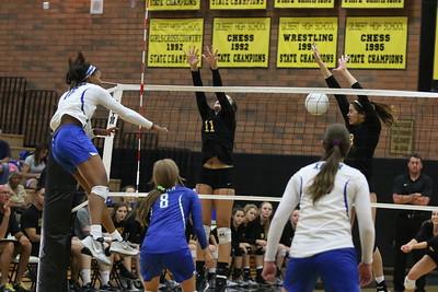 2015 GHS Volleyball vs Xavier 9-24-15