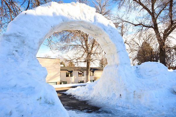 Snow Arch Installation (Dec. '10)