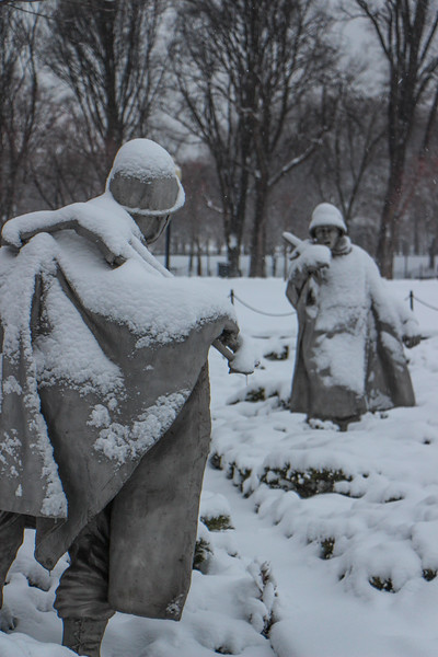 March Snowstorm - Korean War Memorial