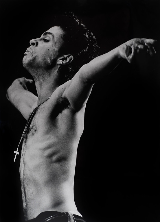 . DENVER, CO - APRIL 21: Pop star Prince performs during a tour stop in Denver at McNichols Arena July, 3, 1986. The pop star died Thursday morning at his Paisley Park estate in suburban Minneapolis April 21, 2016 according to his publicist. He was 57. A cause of death has not been revealed (Photo By John Leyba/The Denver Post)