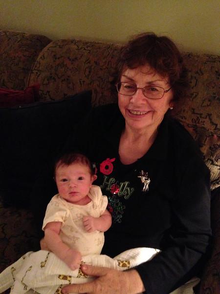 With Oma, Christmas Eve