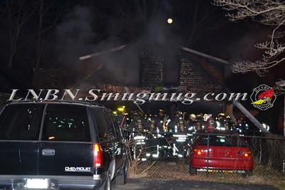 Farmingdale F.D. Working Garage Fire Columbia St. 1-10-12