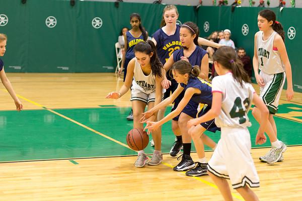 Middle School Greens Basketball vs Waldorf
