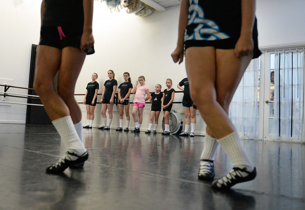 . The Tir Ruaidh Irish Dance Company holds rehearsal on Thursday, June, 26, 2014 at School of International Ballet in Redlands, Ca. The company has enjoyed much success over the last year, with multiple dancers winning and placing in The World Irish Dance Associations� European and World Championships. (Photo by Micah Escamilla/Redlands Daily Facts)