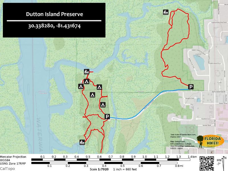 Dutton Island Preserve Trail Map