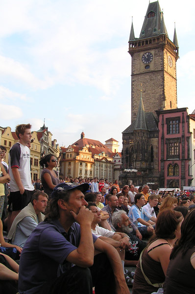People watching the Soccer World Cup finals