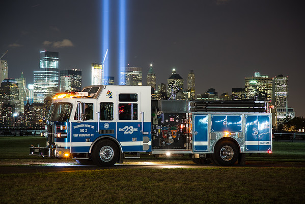 Annual 9/11 Tribute in Lights Memorial Photo Shoot