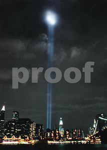 W.T.C. 9/11 TRIBUTE OF  LIGHT   ON FILM