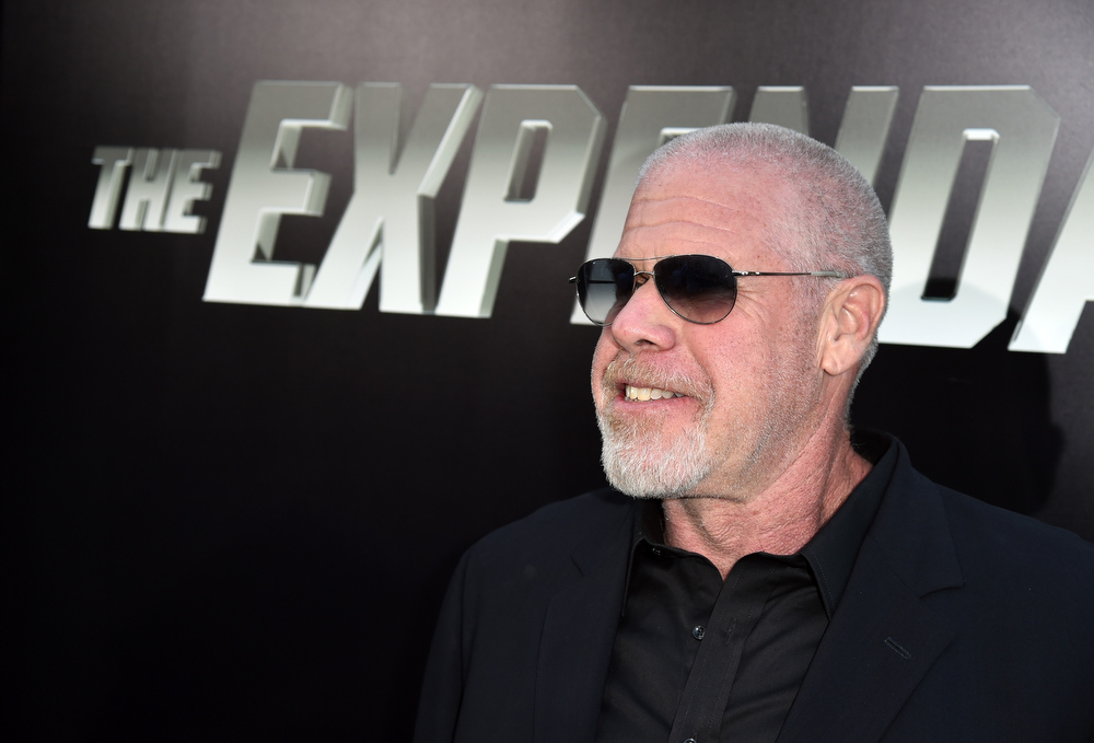""". Actor Ron Perlman attends the premiere of Lionsgate Films\' \""""The Expendables 3\"""" at TCL Chinese Theatre on August 11, 2014 in Hollywood, California.  (Photo by Kevin Winter/Getty Images)"""