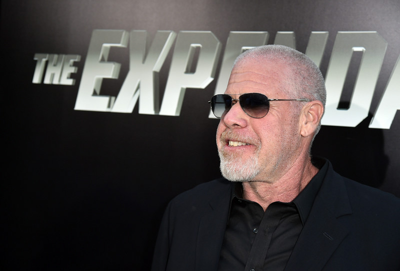 ". Actor Ron Perlman attends the premiere of Lionsgate Films\' ""The Expendables 3\"" at TCL Chinese Theatre on August 11, 2014 in Hollywood, California.  (Photo by Kevin Winter/Getty Images)"